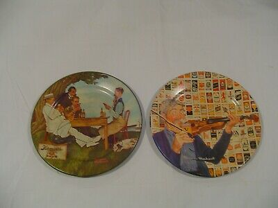 $ CDN37.77 • Buy 2 Vintage Norman Rockwell 50 YEARS OF CANNED BEERS Metal Tin Collector's Plates