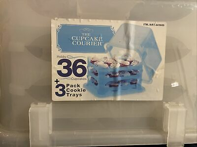 Cupcake Courier Cupcake Caddy - Holds 36 - Clear • 32.92£