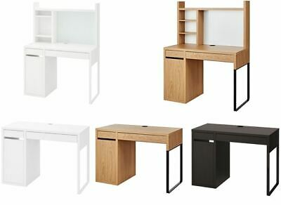 £63.99 • Buy NEW IKEA Micke Computer Desk Drawer Home OR Office WHITE AND OAK 105x50cm
