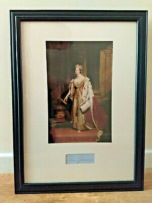 £199.99 • Buy Queen Victoria Original Hand Signed Display Piece With Frame