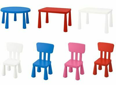 IKEA MAMMUT Kids Chairs Tables, Indoor/Outdoor Multicolor • 21.19£