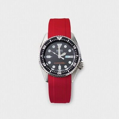 $ CDN62.23 • Buy Seiko SKX013 Fitted Rubber Strap / Natural Vulcanized Rubber / SKXR1-3 Red