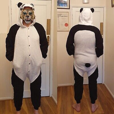 £10.95 • Buy New Adult Full Panda Body Suit,Fancy Dress,Cosplay,Stag Night,PJ's,Kids Party,M