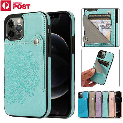 AU14.99 • Buy For IPhone 12 11 Pro Max Mini XR X/XS 8/7/SE Plus Case Leather Wallet Card Cover