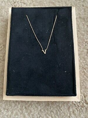 AU250 • Buy Sarah And Sebastian Petite Letter Necklace 'V'