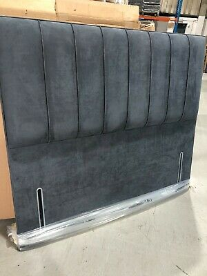 £240 • Buy Hypnos PETRA Euro Slim Headboard 150 Cm King Size CHARCOAL FAUX SUEDE RRP £845