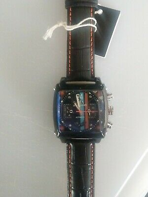 Mens Watch Racing Le Mans Steve McQueen Monaco Porsche Gulf Look  Gift With Tag • 79£