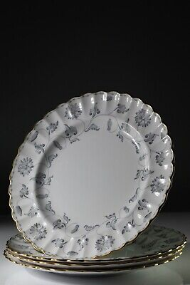 SPODE COLONEL (GREY)  DINNER PLATES 27CM Set Of 4 • 49.35£
