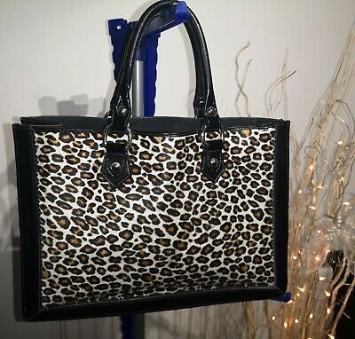 £29.99 • Buy Hobbs Faux Pony Skin Patent Animal Print Leather Tote Handbag. Made In Italy.