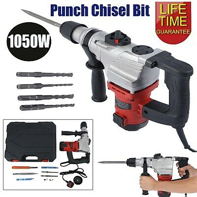 1050W Electric Demolition Hammer Breaker Jack Drill Concrete Hammer Power Tool • 56.52£