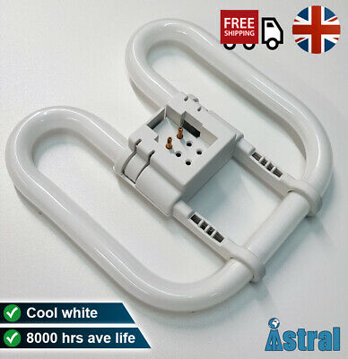 £8.25 • Buy WC Office Bathroom Toilet Ceiling Bulb - 16w 28w 2D - Square 2 Or 4 Pin - White