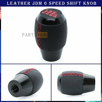 $15.99 • Buy JDM M10 X 1.25 Black Leather Red Stitching 6 Speed Manual Shift Knob For Hyundai