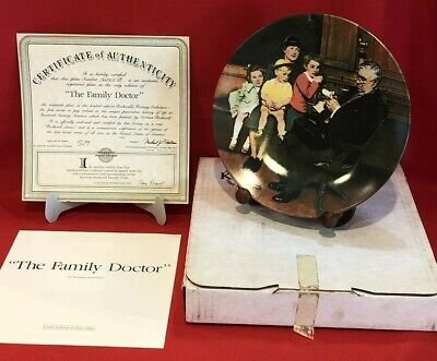 $ CDN16.52 • Buy Bradfor Exchange Norman Rockwell  The Family Doctor  Collector Plate Knowles COA