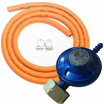 Butane Screw-In Regulator 4.5kg + 1m Gas Hose + Clips Calor 4.5kg Bottle  • 9.95£