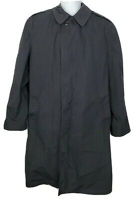 $55.94 • Buy Military Jacket All Weather Men's Coat Size 42R Black Trench Rain Jacket Lined