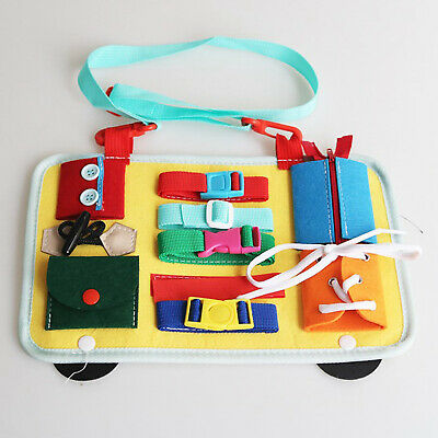 AU16.30 • Buy Montessori Sensory Busy Board Toys 2-5 Year Old Travel Button Toy Learn