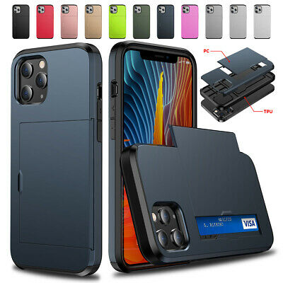 AU10.26 • Buy Shockproof Wallet Credit Card Holder Phone Case For IPhone 12 Xs Max 6s 7 8 Plus