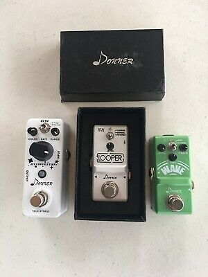 $ CDN149.13 • Buy Donner Looper Jet Convolution Flanger Wave Analog Delay Mini Guitar Pedal Lot