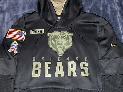 $119 • Buy Authentic CHICAGO BEARS Salute To Service Military Nike Sideline Hoodie