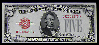 $ CDN159.49 • Buy 1928-B Red Seal $5 United States Note, Perfect Uncirculated Beauty