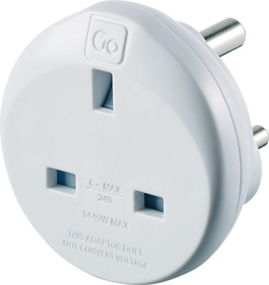 AU23.67 • Buy Go Travel UK To India Earthed Compact Travel Power Adaptor Convertor Adapter Ref