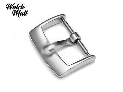 Fits OMEGA Buckle Clasp For Watch Leather Rubber Strap Band Silver  • 15.49£