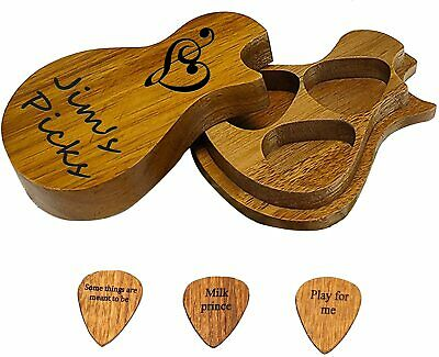 $ CDN23.97 • Buy Ukulele Guitar Picks Custom Personalized Any Letters Name 3 Pcs Wood Pick Wooden