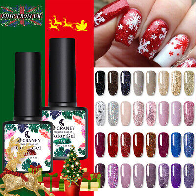 Starry Sparkle Finish Nail Art Varnish CRANEY Glitter Red Sequins UV Gel Polish • 4.99£