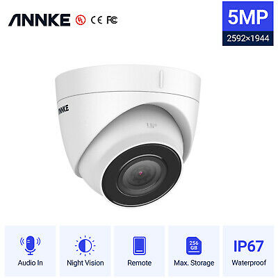 £39.96 • Buy ANNKE Ultra HD 5MP Outdoor POE CCTV Audio Dome Security IP Camera IP67 Remote UK