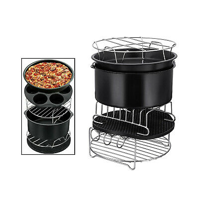AU45.13 • Buy Round Air Fryer Accessories 12 Pcs With Deep Fryer Set For Philips COSORI
