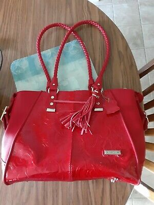 $16.50 • Buy M.C Red Leather Purse. Pre-owned In Great Condition