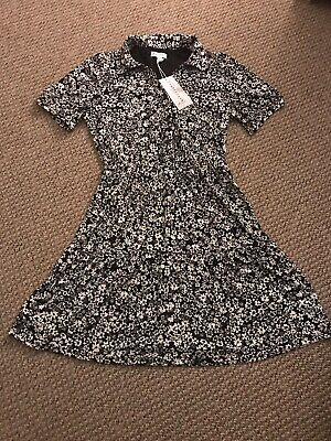 £17.50 • Buy Warehouse Black And White Floral Tea/shirt Dress Size 10