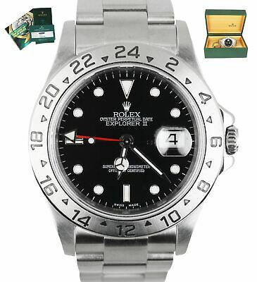 $ CDN10165.31 • Buy 2020 ROLEX SERVICE RSC Explorer II 16570 Stainless 40mm GMT Automatic Black
