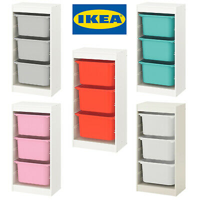 IKEA TROFAST Storage Combination With Children's Play Plastic Boxes 46x30x94cm • 57.99£
