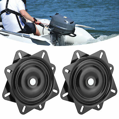 $ CDN109.46 • Buy 1 Pair Boat Ship Seat Swivel Base Mount Plate High Strength 360º Rotating 7in