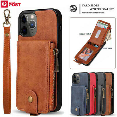 AU18.39 • Buy For IPhone 12 11 Pro Max XR XS 7/8/SE Plus Case Leather Wallet Card Slot Cover