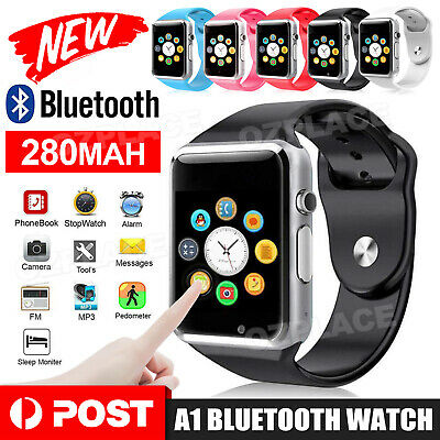 AU16.95 • Buy New A1 Bluetooth Smart Watch Wristwatch For Android Phone Intelligent Men Women