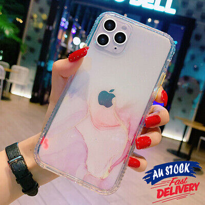 AU7.99 • Buy Slim Clear Cover Shockproof Case Glitter For IPhone 12 11 Pro Max Marble CAS#