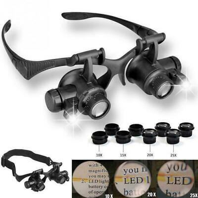 £10.99 • Buy 25X Magnifier Magnifying Eye Glass Loupe Jeweler Watch Repair Kit With LED Light