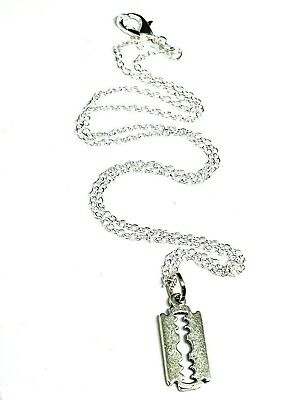 £3.70 • Buy Razor Blade Pendant Peaky Blinders  Small 18 Inch Chain Mobster Gang Necklace