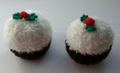 2 Hand Knitted Christmas Pudding Covers For Chocolate Oranges/bath Bombs Etc • 6.99£