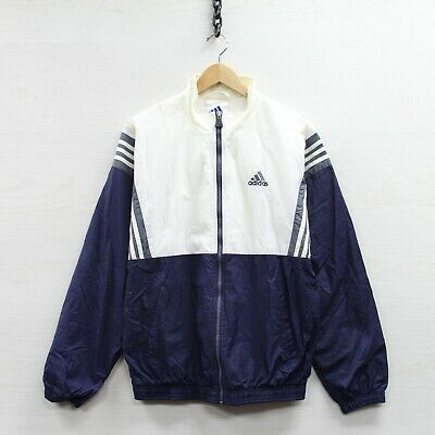 $ CDN50.86 • Buy Vintage Adidas Windbreaker Jacket Size Small Blue 90s Full Zip