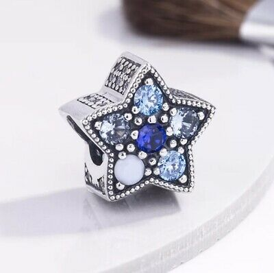 AU26 • Buy S925 Bright Blue Star Charm By Pandora's Queen
