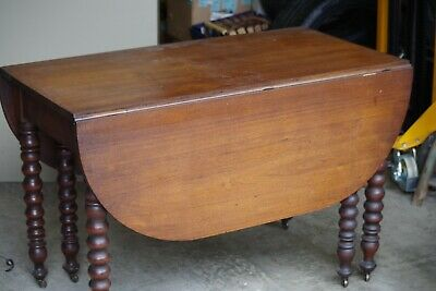 $275 • Buy DUNCAN PHYFE ANTIQUE DROP LEAF MAHOGANY TABLE, 44  Wide And 51  Long 1930's NICE
