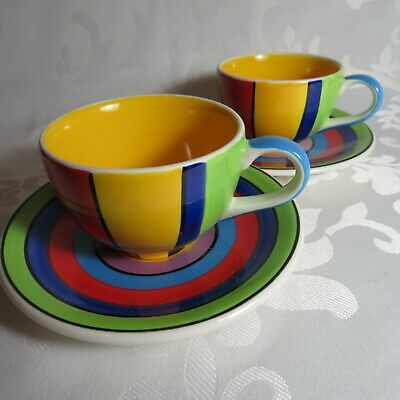 £14.99 • Buy NEW Whittard PAIR Of Expresso Coffee Cup And Saucer Multi Stripe