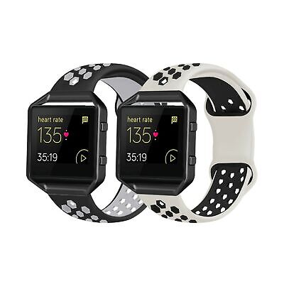 $ CDN26.23 • Buy 2 Pack Bands Compatible With Fitbit Blaze With Black Frame For Men Women, Sof...