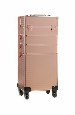 $146.99 • Buy Rolling Train Case 4-in-1 Portable Makeup Train Case Professional Cosmetic Or...