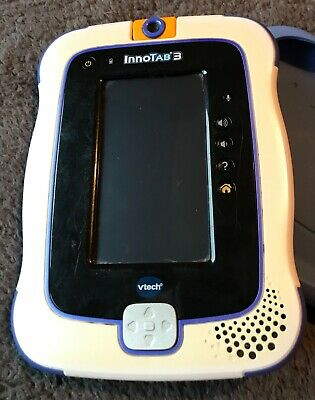 Vtech InnoTab 3 Blue-Protective Case/Rechargeable Batteries/Power Cable/4 Games • 12£
