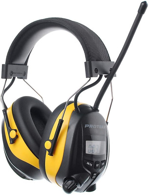 PROTEAR Ear Defenders With FM/AM Radio MP3 Compatible, SNR 30dB Adjustable Noise • 54.07£
