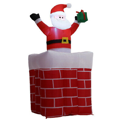 £44.34 • Buy Giant Christmas Chimney Santa Claus Inflatable Arch Outdoor LED Bright Party Dec